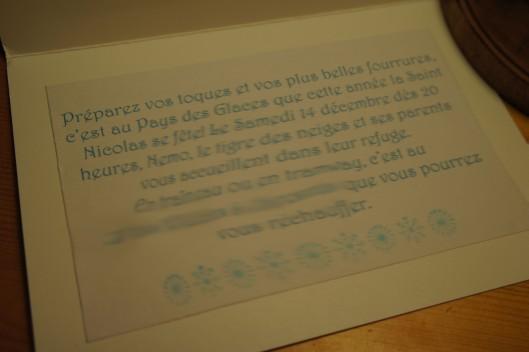 ... avec un texte qui emporte vos futurs invités dans l'univers des glaces !